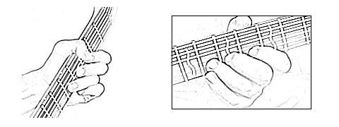 Блюзовая постановка левой руки